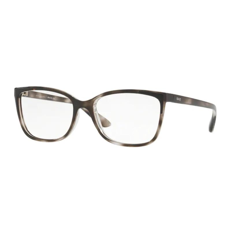 Óculos de Grau Feminino Grazi GZ3058 Preto Havana Brilho