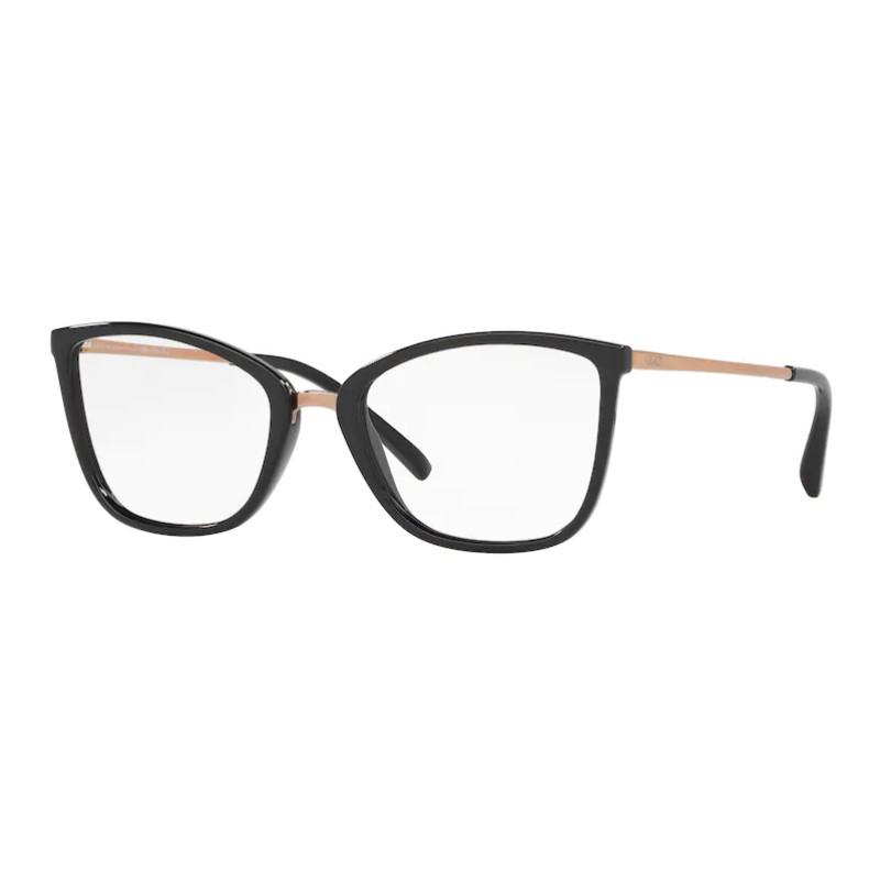 Óculos de Grau Feminino Grazi GZ3065 Preto Brilho Quadrado
