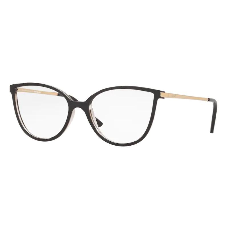 Óculos de Grau Feminino Grazi GZ3066 Preto Brilho e Dourado