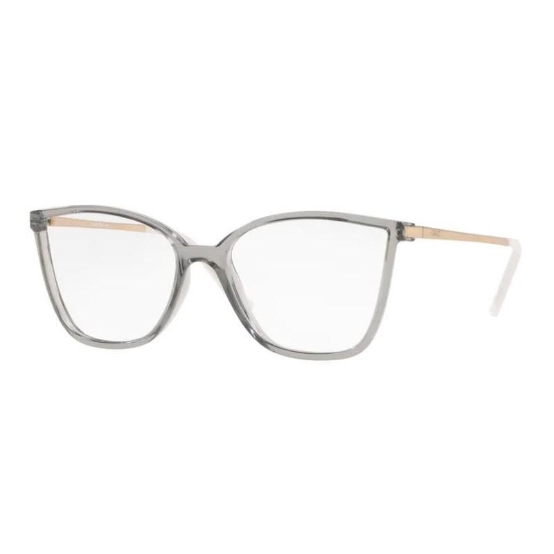 Óculos de Grau Feminino Grazi GZ3067 Cinza Translúcido Quadrado