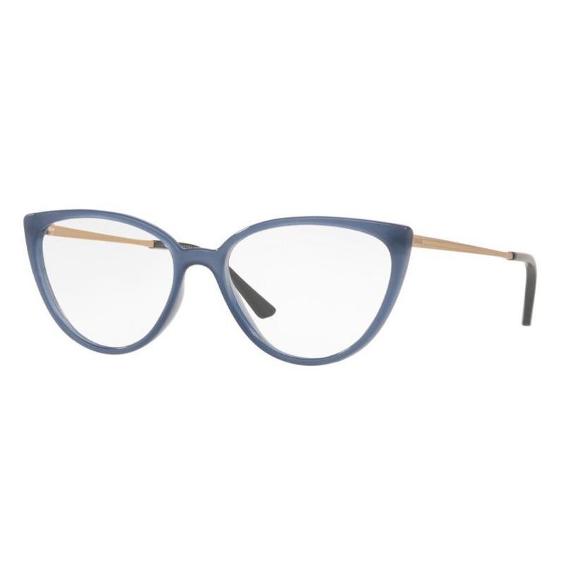 Óculos de Grau Feminino Grazi GZ3076 Azul Brilho Tamanho 55