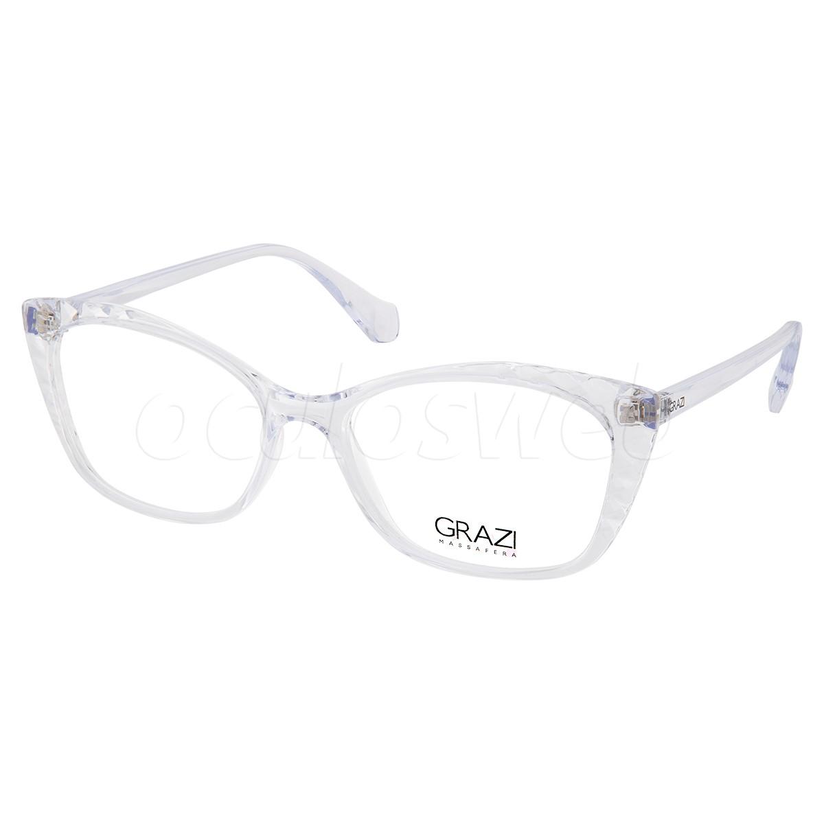 Óculos de Grau Feminino Grazi GZ3080 Transparente Brilho