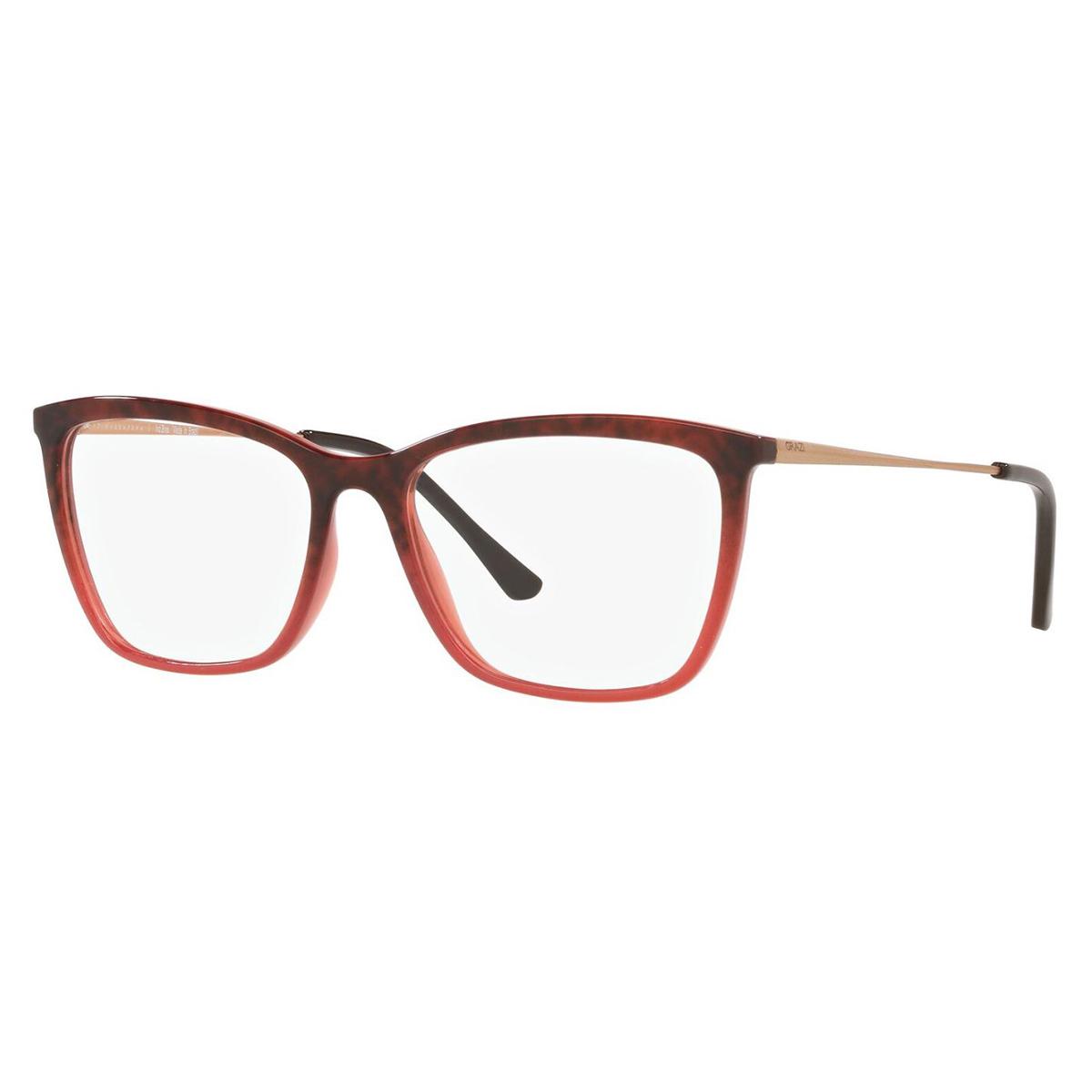 Óculos de Grau Feminino Grazi GZ3087 Vermelho Borgonha e Marrom