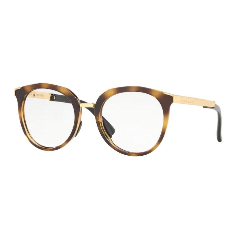 Óculos de Grau Feminino Oakley Top Knot OX3238 Redondo Marrom Havana