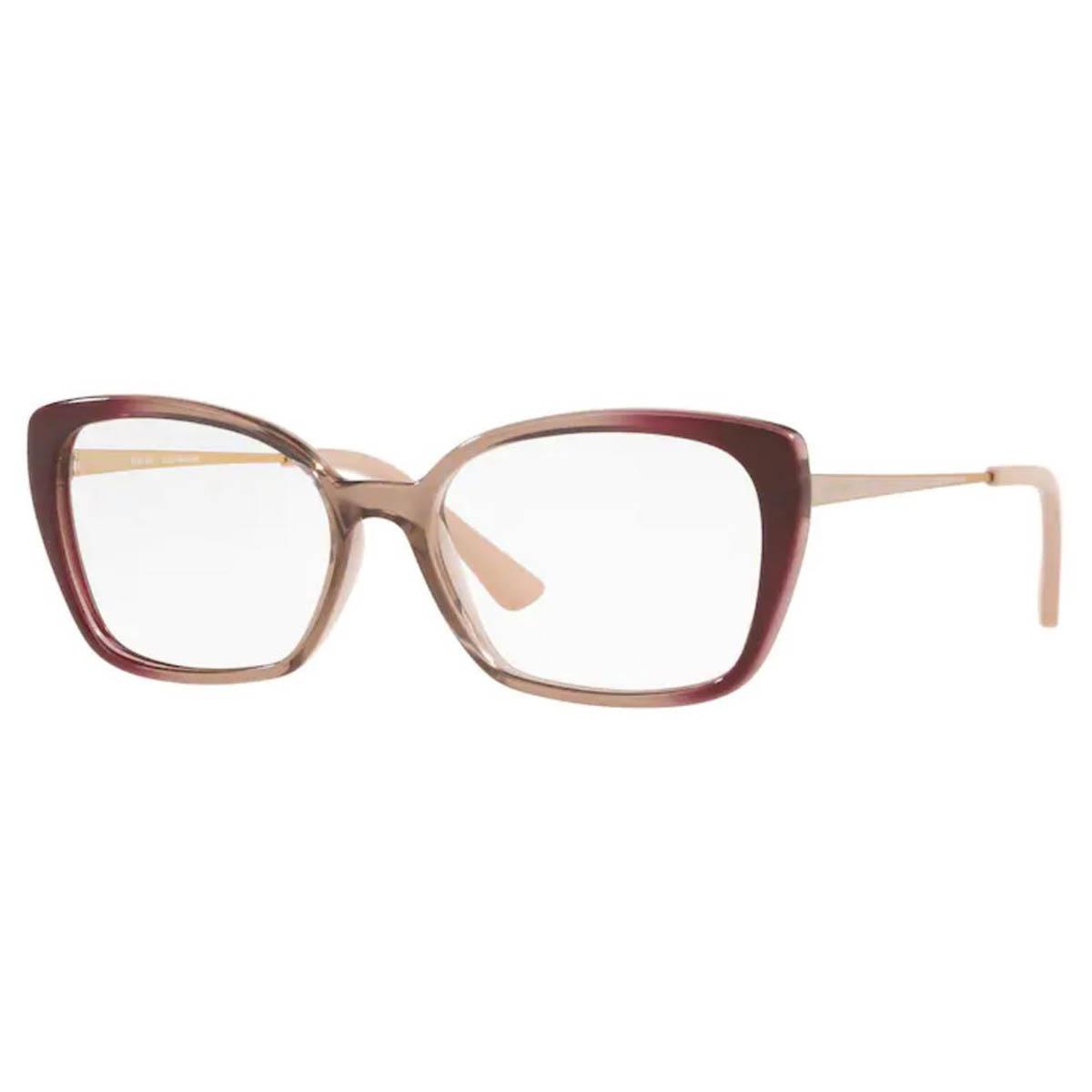 Óculos de Grau Feminino Platini P93162 Marrom Degradê Translúcido