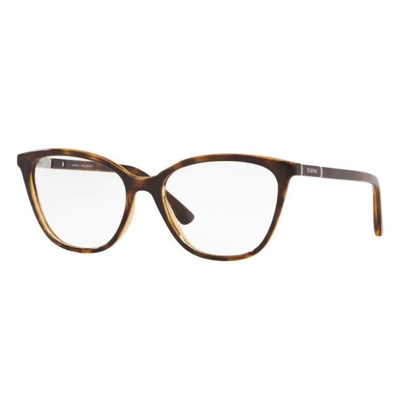Óculos de Grau Feminino Platini P93166 Marrom Caramelo Havana