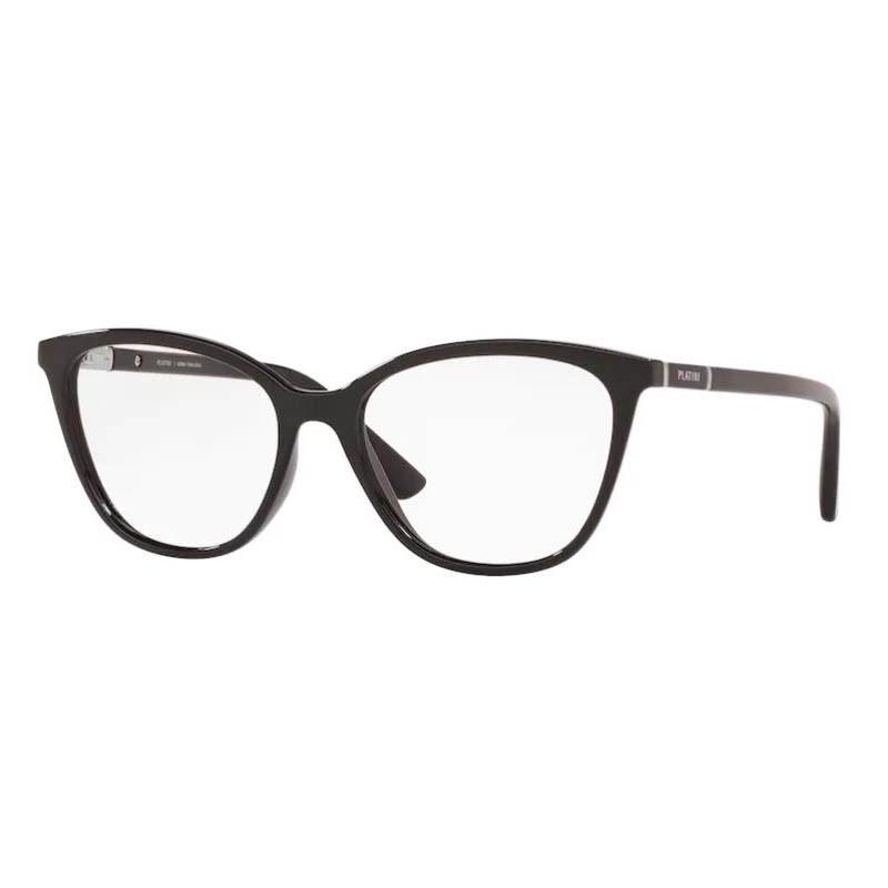 Óculos de Grau Feminino Platini P93166 Preto Brilho Tamanho 53