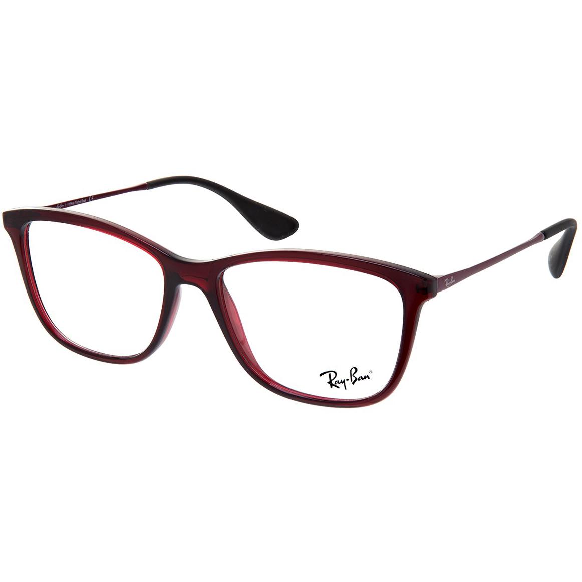 Óculos de Grau Feminino Ray Ban RX7135L Bordô Brilho