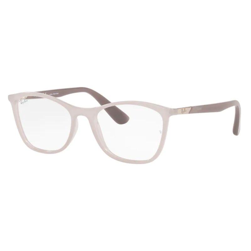 Óculos de Grau Feminino Ray Ban RX7157L Cinza Brilho Tamanho 52