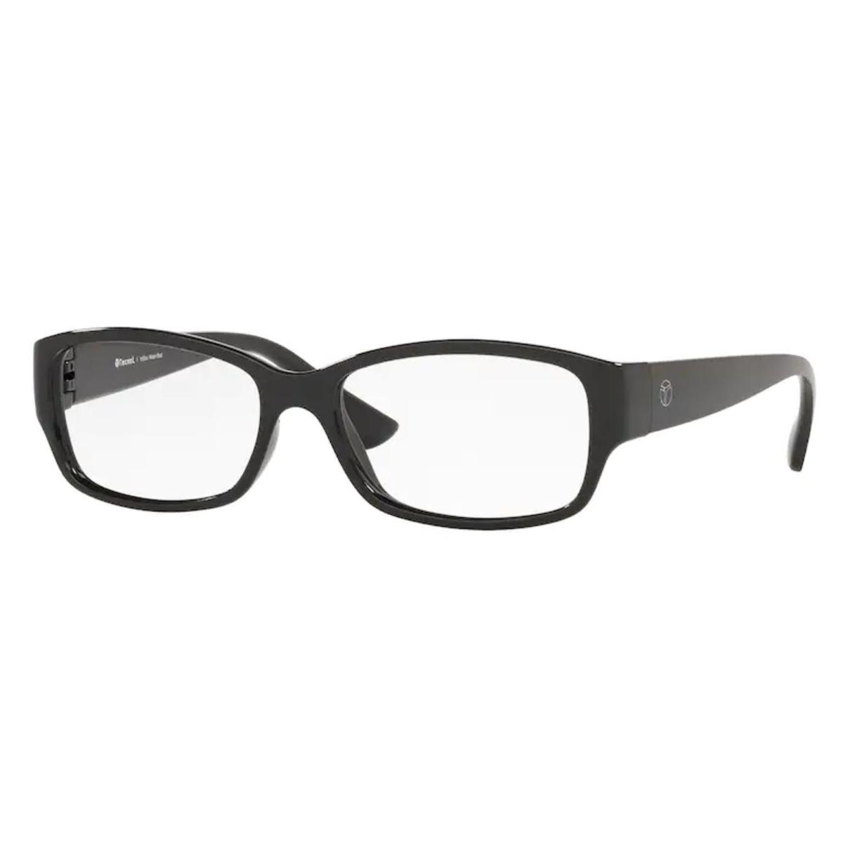 Óculos de Grau Feminino Tecnol TN3076 Preto Brilho