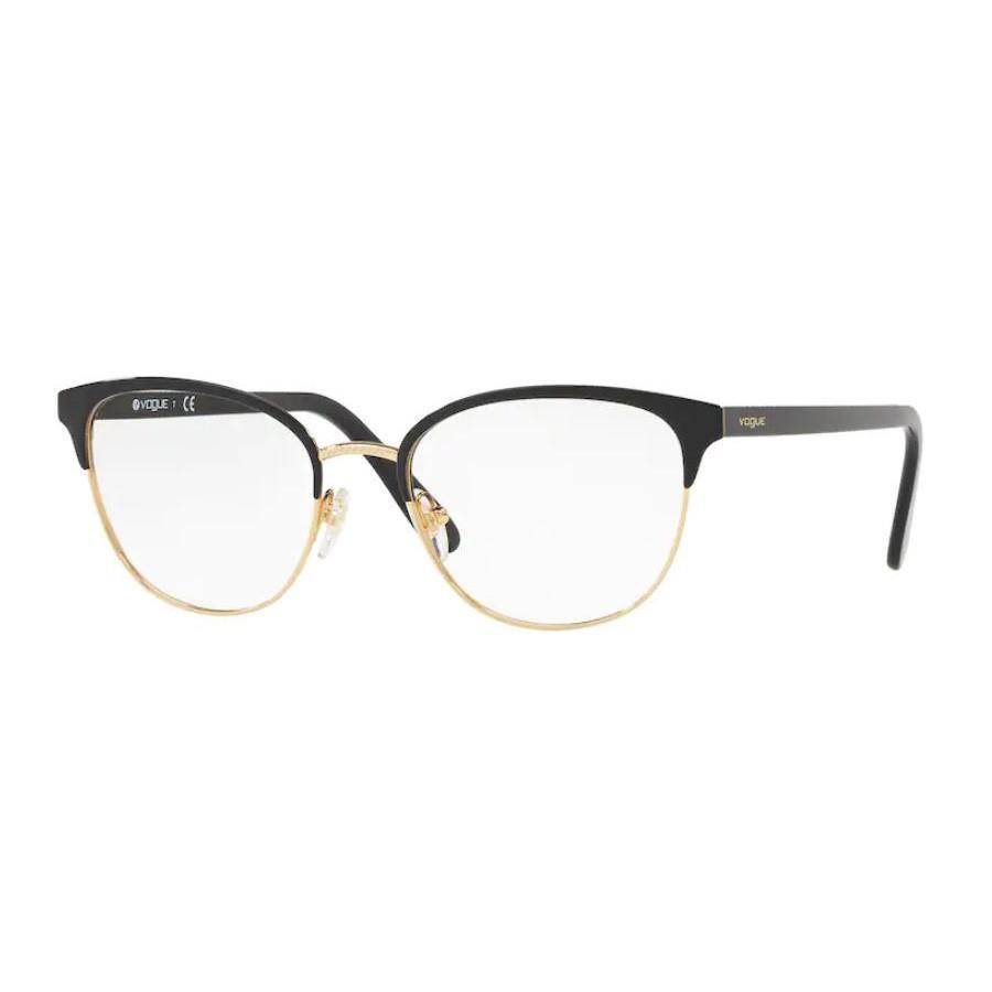 Óculos de Grau Feminino Vogue VO4088 Preto Brilho e Dourado