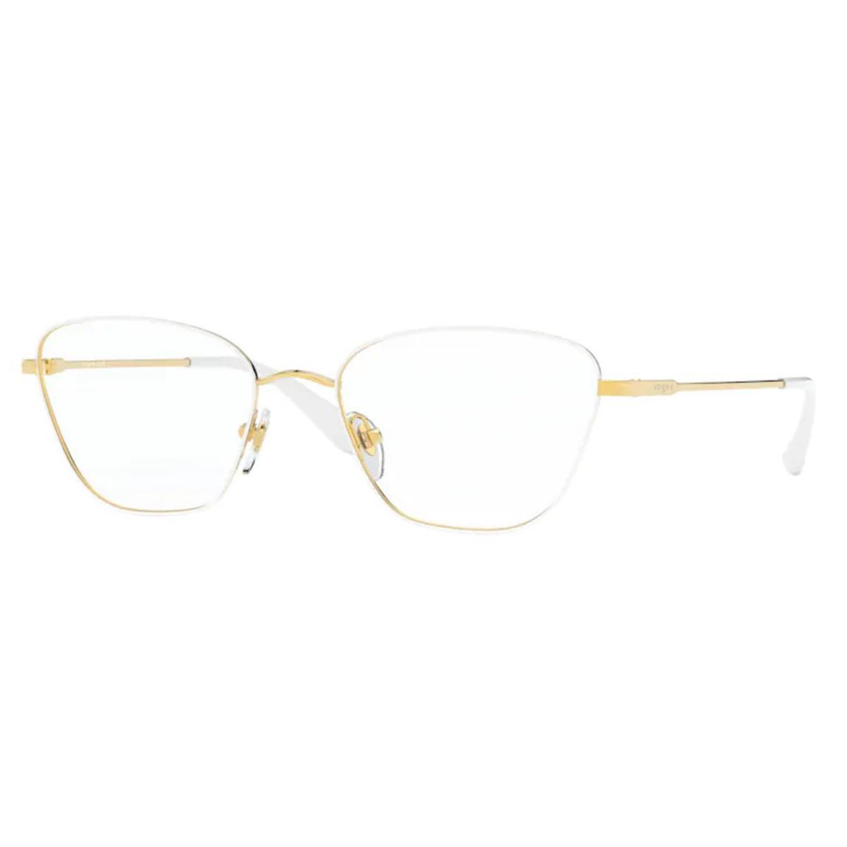 Óculos de Grau Feminino Vogue VO4163 Branco com Dourado
