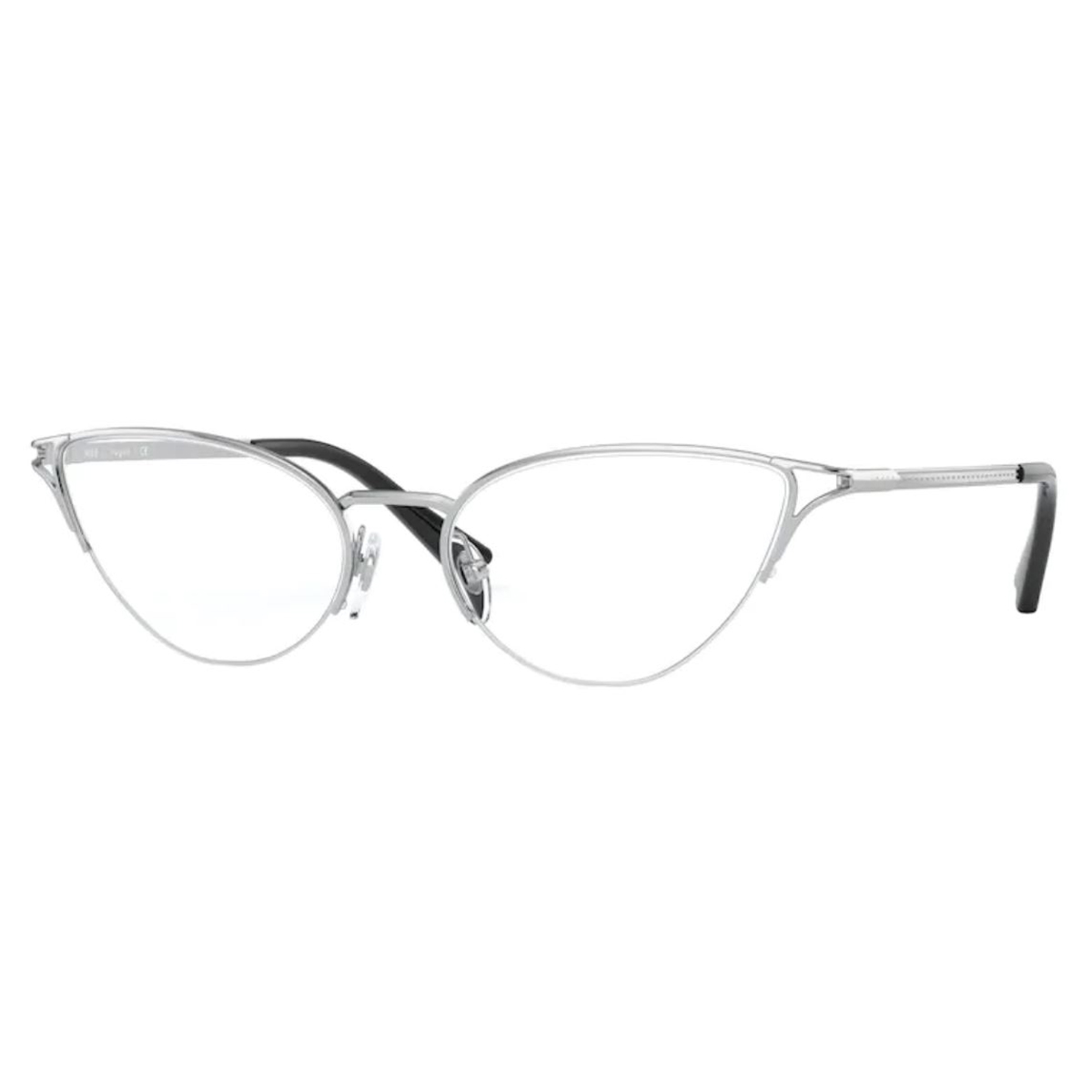 Óculos de Grau Feminino Vogue VO4168 Metal Prata Gatinho