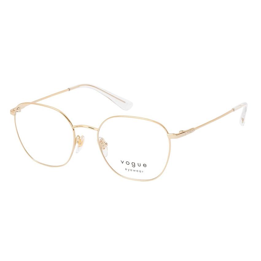 Óculos de Grau Feminino Vogue VO4178 Dourado Brilho Metal
