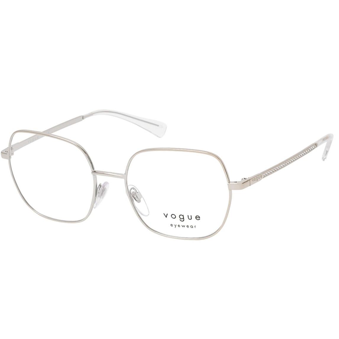 Óculos de Grau Feminino Vogue VO4181B Prata Brilho