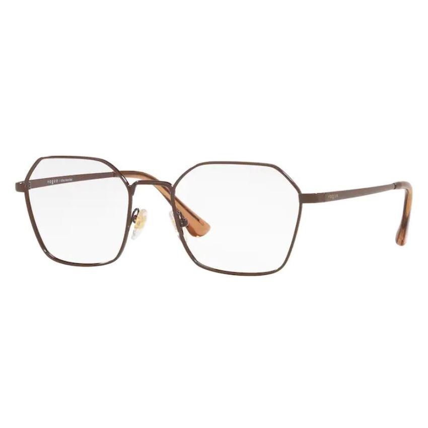 Óculos de Grau Feminino Vogue VO4187L Marrom Brilho Metal