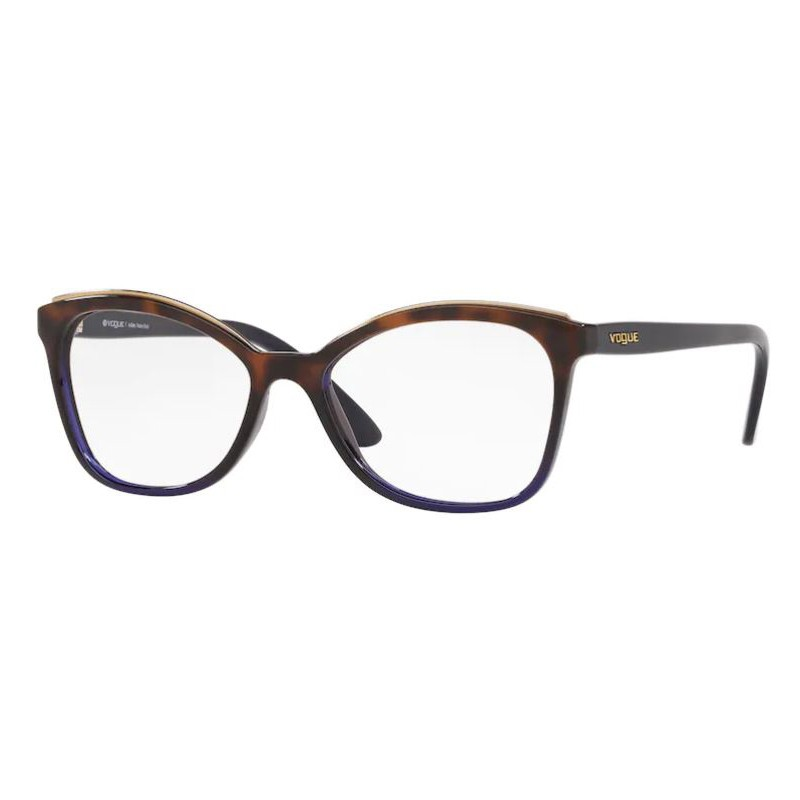 Óculos de Grau Feminino Vogue VO5160L Marrom Havana com Azul