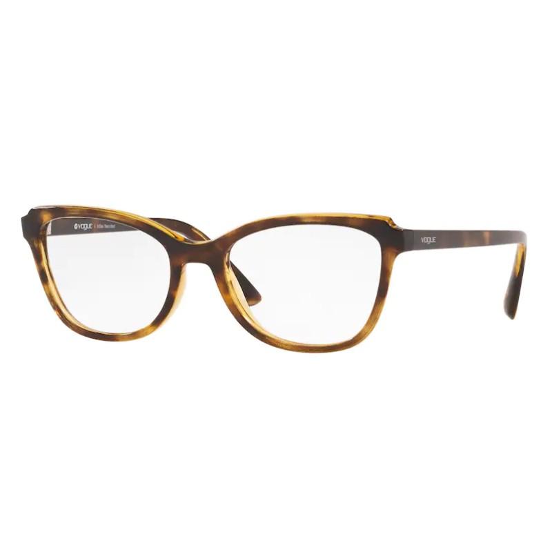 Óculos de Grau Feminino Vogue VO5292 Marrom Havana Tamanho 53