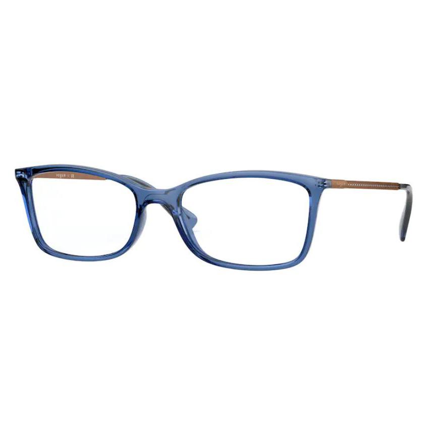 Óculos de Grau Feminino Vogue VO5305B Azul Translúcido Tamanho 54