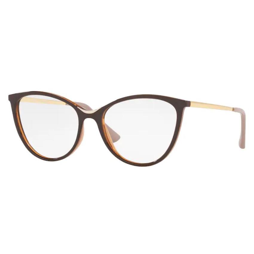 Óculos de Grau Feminino Vogue VO5320L Marrom Caramelo Tamanho 52