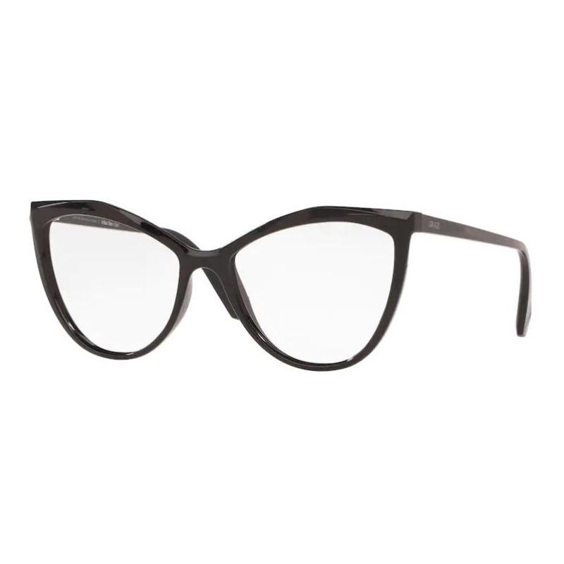 Óculos de Grau Grazi Gatinho GZ3078 Preto Brilho Tamanho 54