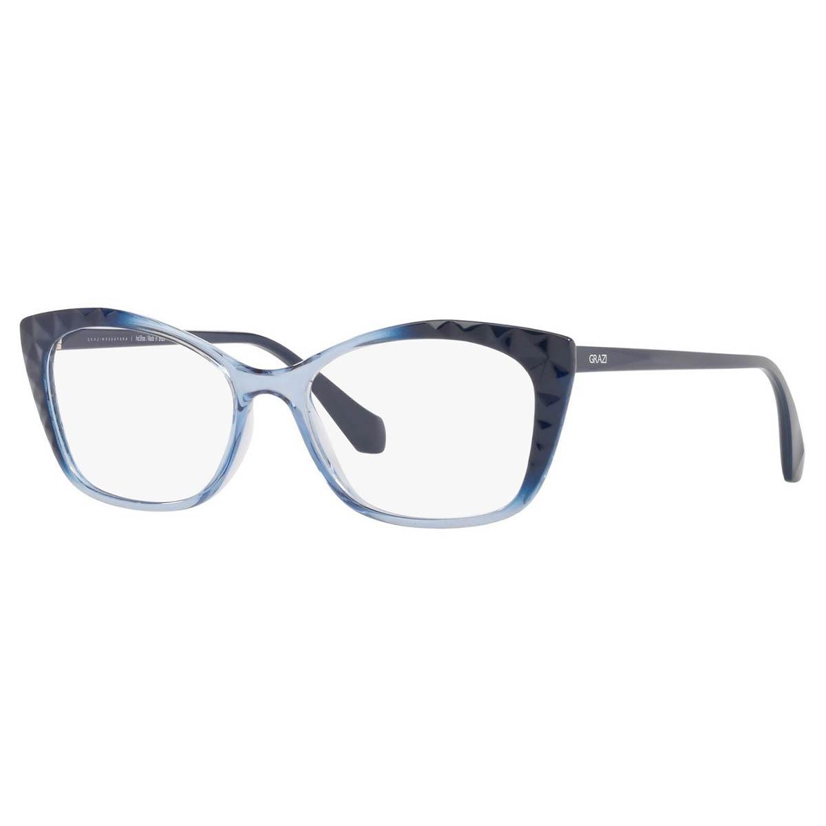 Óculos de Grau Grazi Gatinho GZ3080 Azul Translúcido