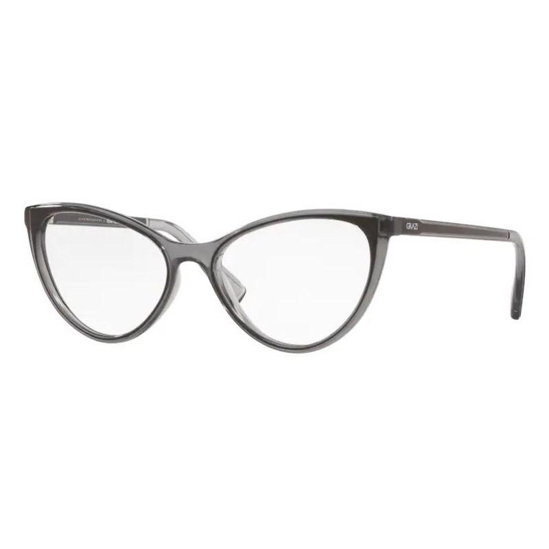 Óculos de Grau Grazi GZ3073 Cinza com Preto Brilho Gatinho