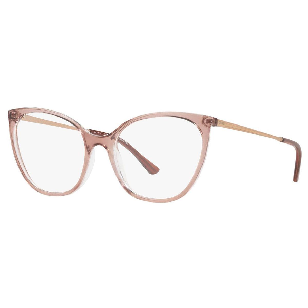 Óculos de Grau Grazi GZ3074 Marrom Translúcido Gatinho