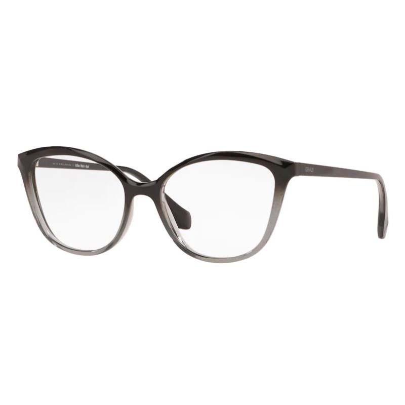 Óculos de Grau Grazi GZ3079 Preto com Cinza Degradê Brilho