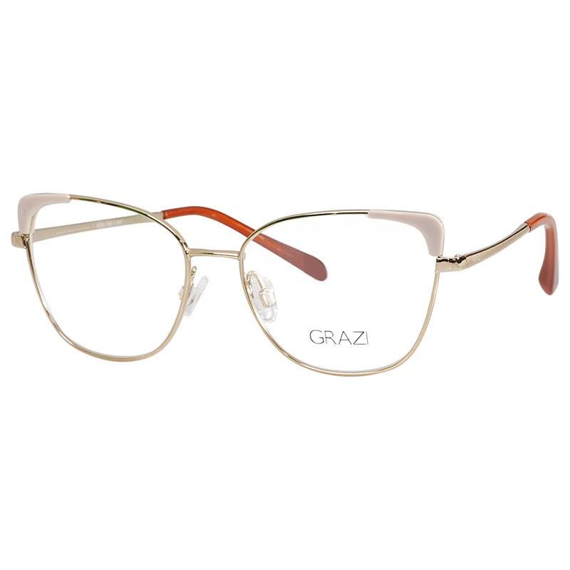 Óculos de Grau Grazi Massafera GZ1013 Metal Dourado com Rosa
