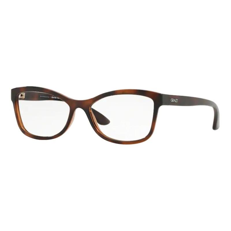 Óculos de Grau Grazi Massafera GZ3036 Marrom Tartaruga Pequeno