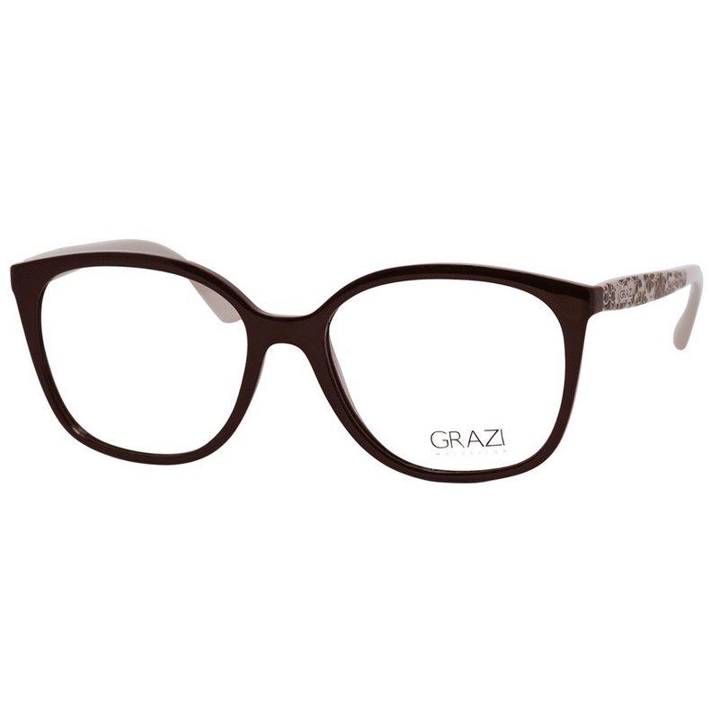 Óculos de Grau Grazi Massafera GZ3046 Marrom e Bege Brilho