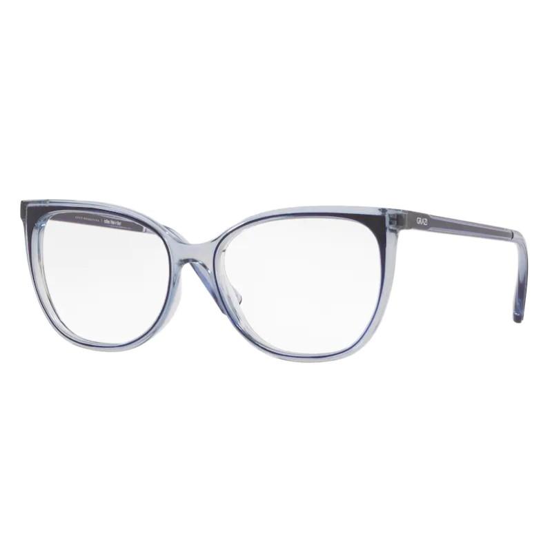 Óculos de Grau Grazi Massafera GZ3072 Azul Claro Brilho Tamanho 54