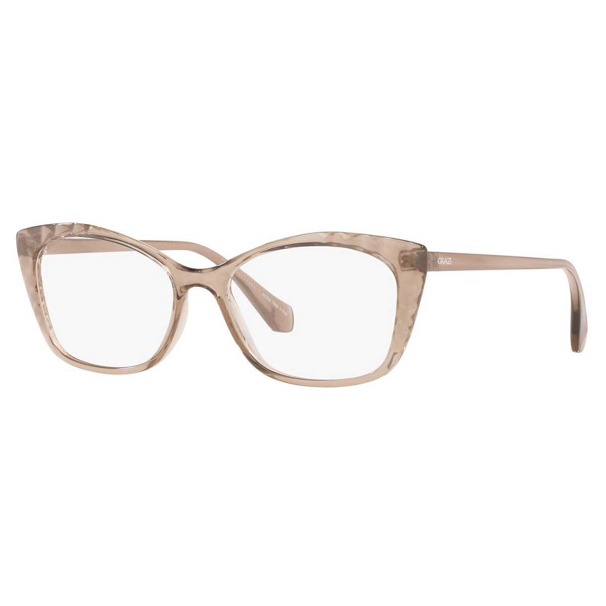 Óculos de Grau Grazi Massafera GZ3080 Marrom Translúcido