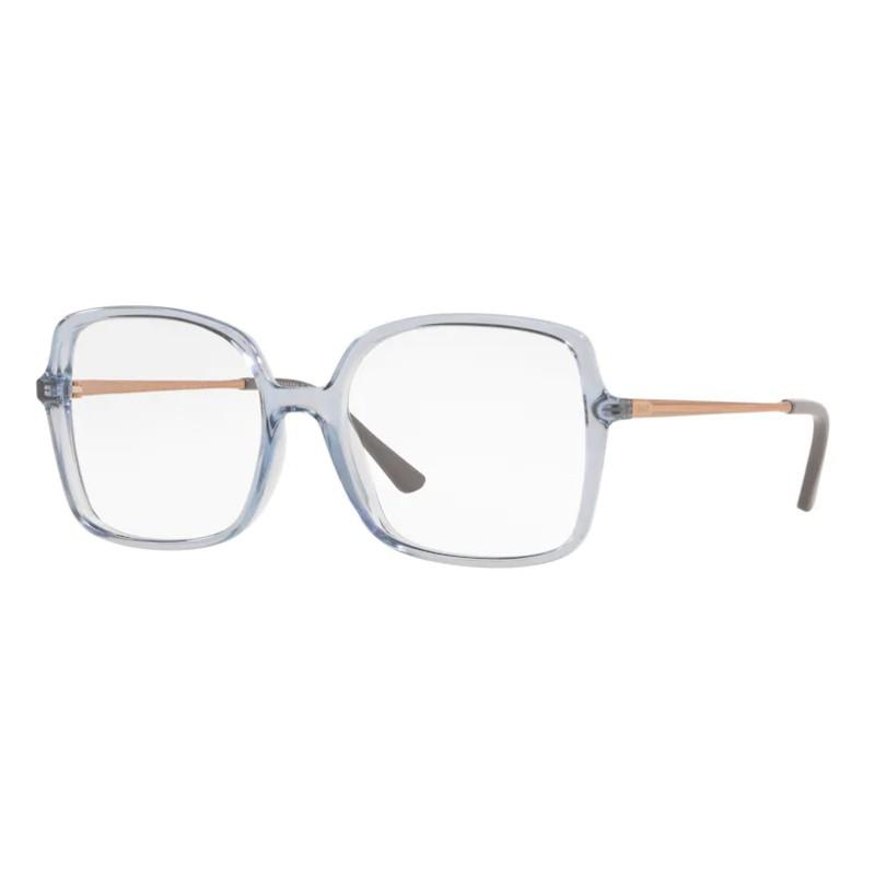 Óculos de Grau Grazi Quadrado GZ3075 Azul Celeste Translúcido