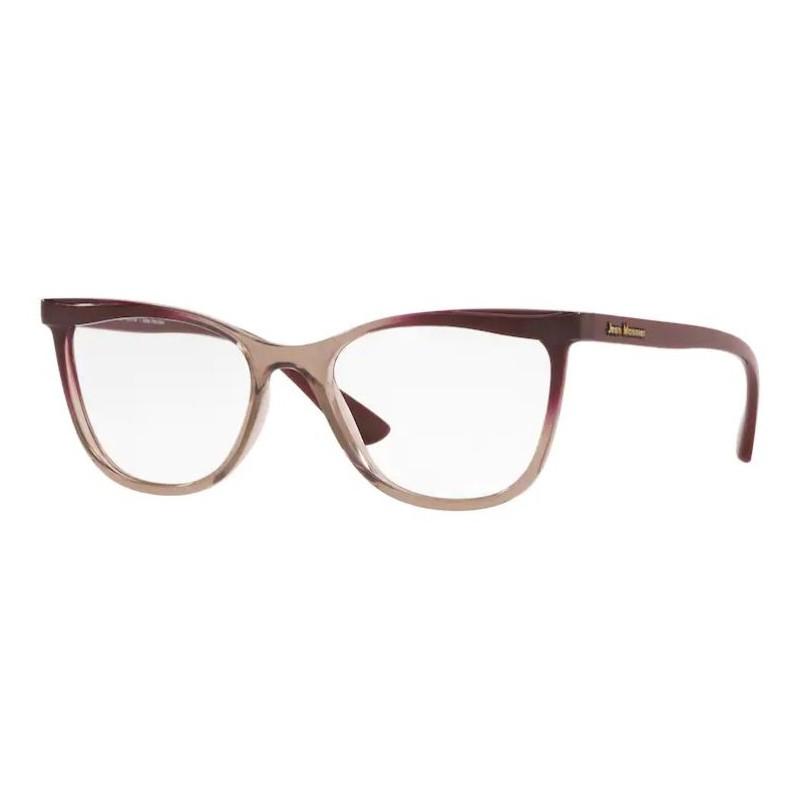 Óculos de Grau Jean Monnier Feminina J83190 Marrom Escuro e Claro