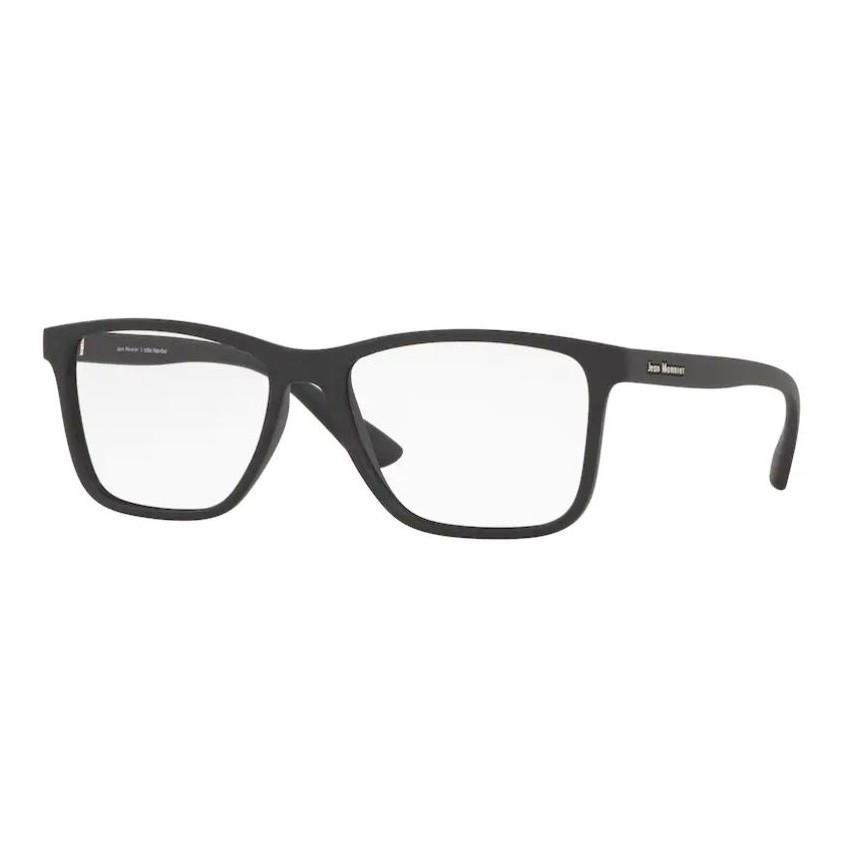 Óculos de Grau Jean Monnier J83187 Preto Fosco Quadrado Tamanho 57