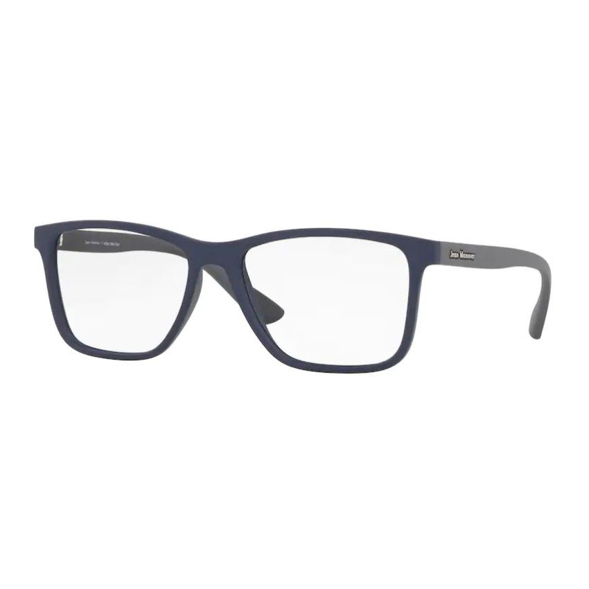 Óculos de Grau Jean Monnier J83187 Quadrado Azul com Cinza Fosco