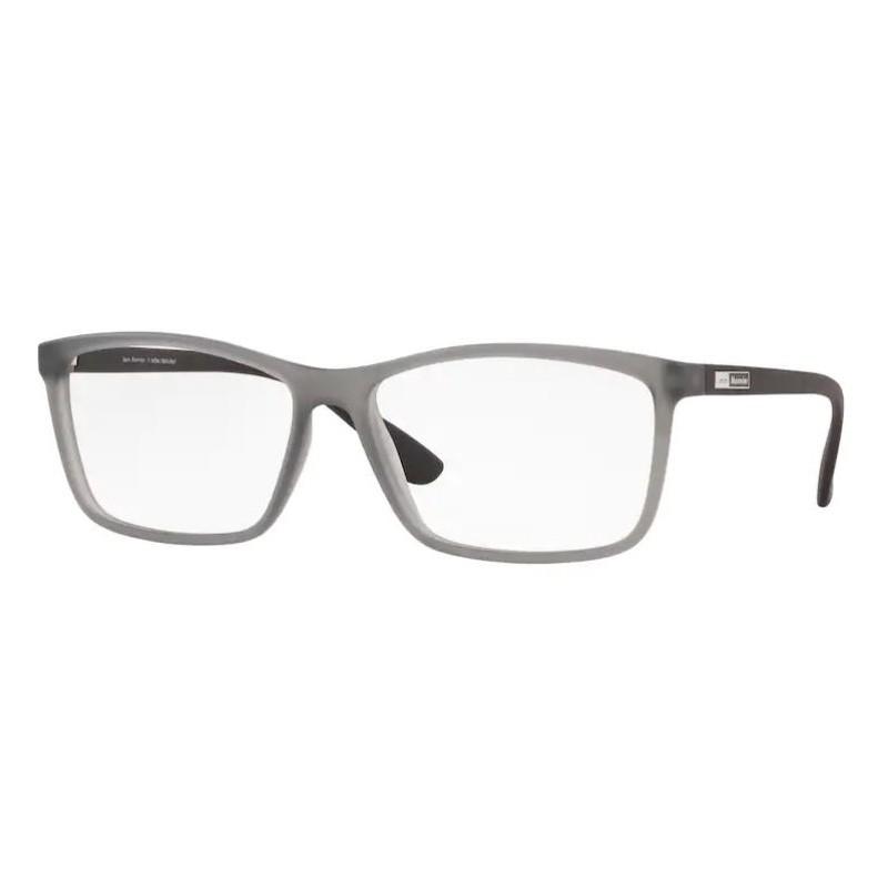 Óculos de Grau Jean Monnier J83197 Grande Cinza Fosco Translúcido