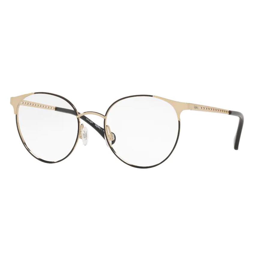 Óculos de Grau Kipling KP1112 Redondo Metal Preto e Dourado