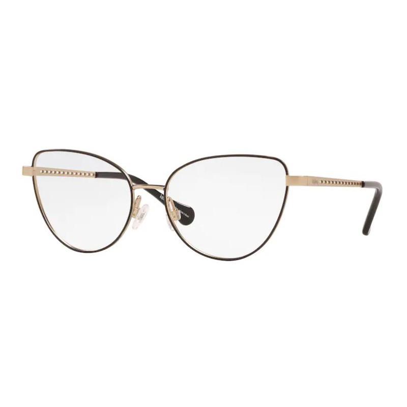 Óculos de Grau Kipling KP1113 Metal Preto Fosco com Dourado