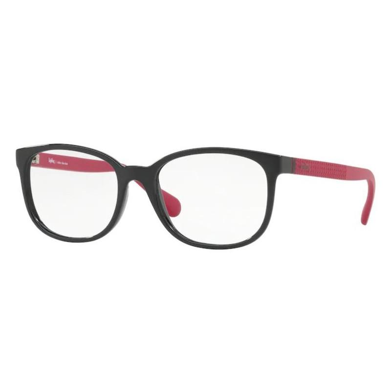 Óculos de Grau Kipling KP3097 Preto Brilho com Rosa Tamanho 53