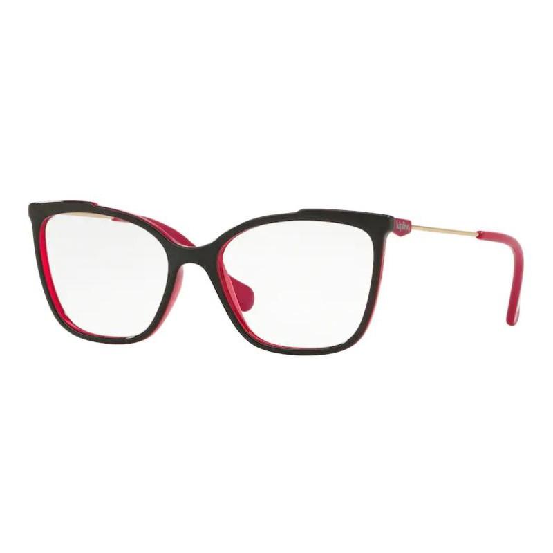 Óculos de Grau Kipling KP3112 Preto com Rosa Brilho Tamanho 52