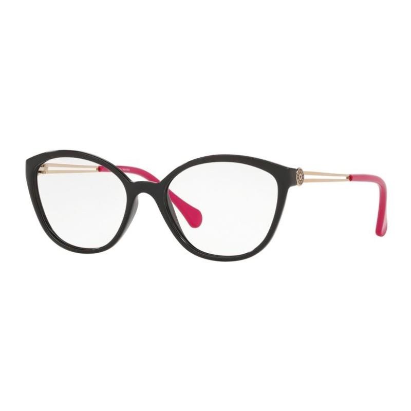 Óculos de Grau Kipling KP3117 Preto com Rosa Brilho Tamanho 52