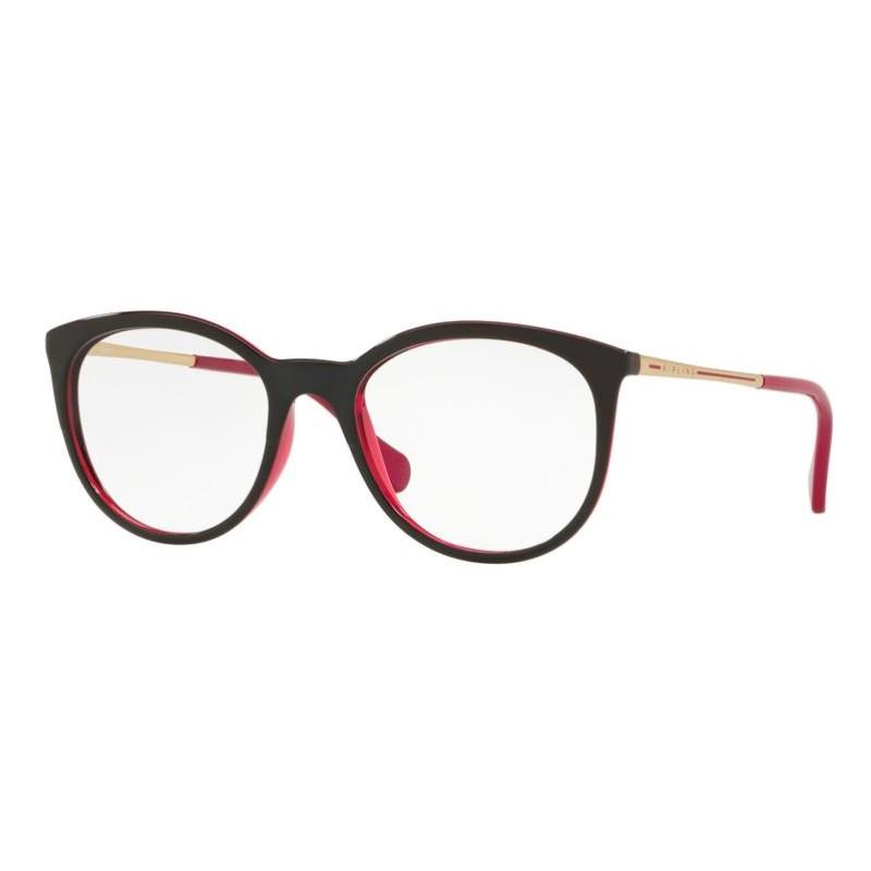 Óculos de Grau Kipling Redondo KP3078 Rosa com Preto Brilho