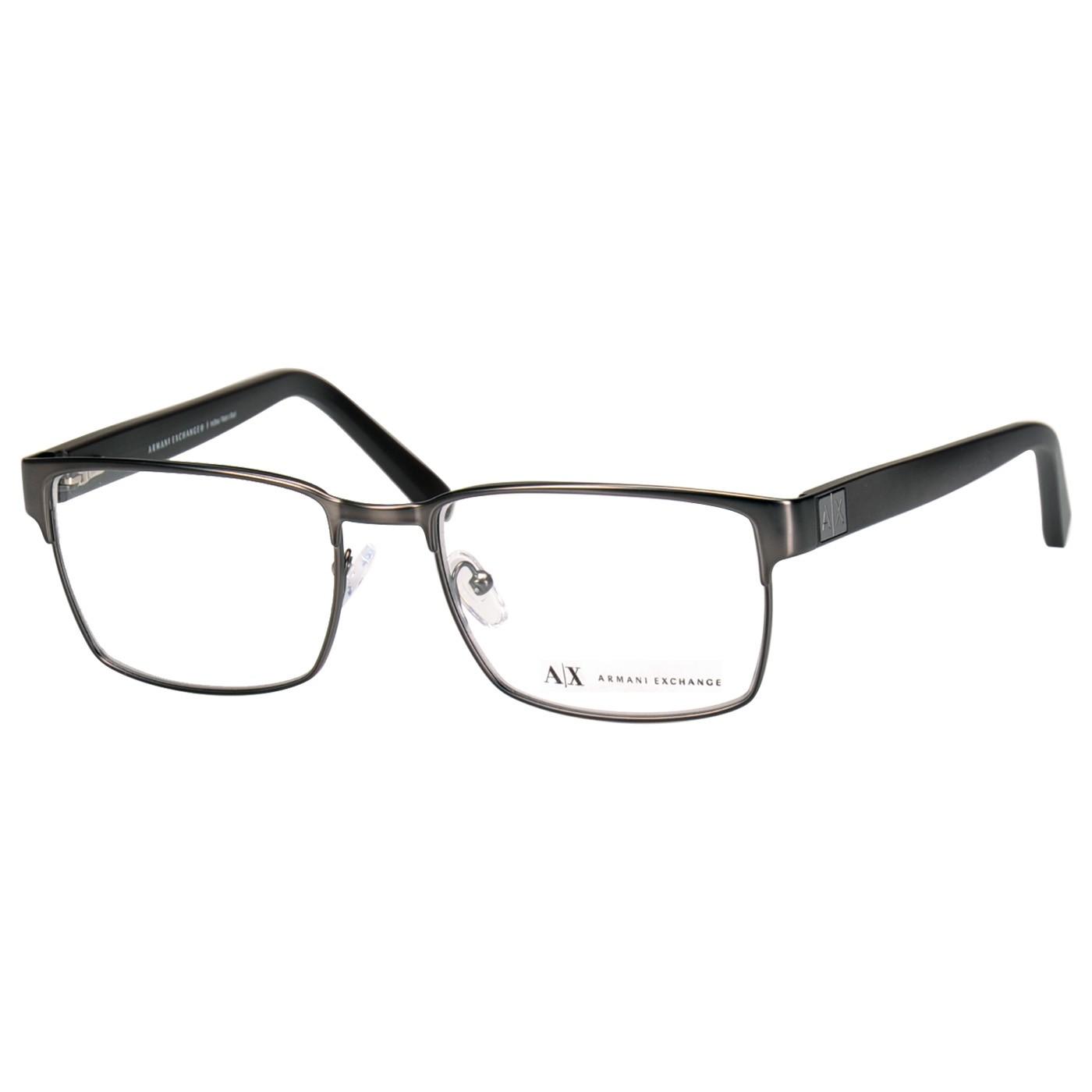 Óculos de Grau Masculino Armani Exchange AX1019L Metal Cinza Fosco