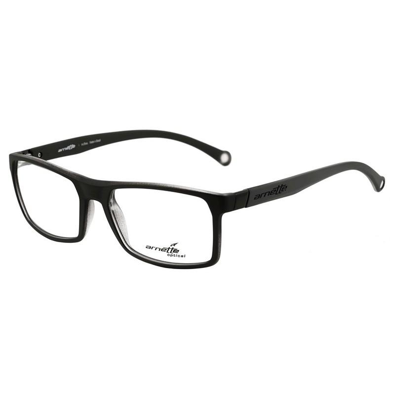 Óculos de Grau Masculino Arnette AN7075L Preto com Cinza Fosco