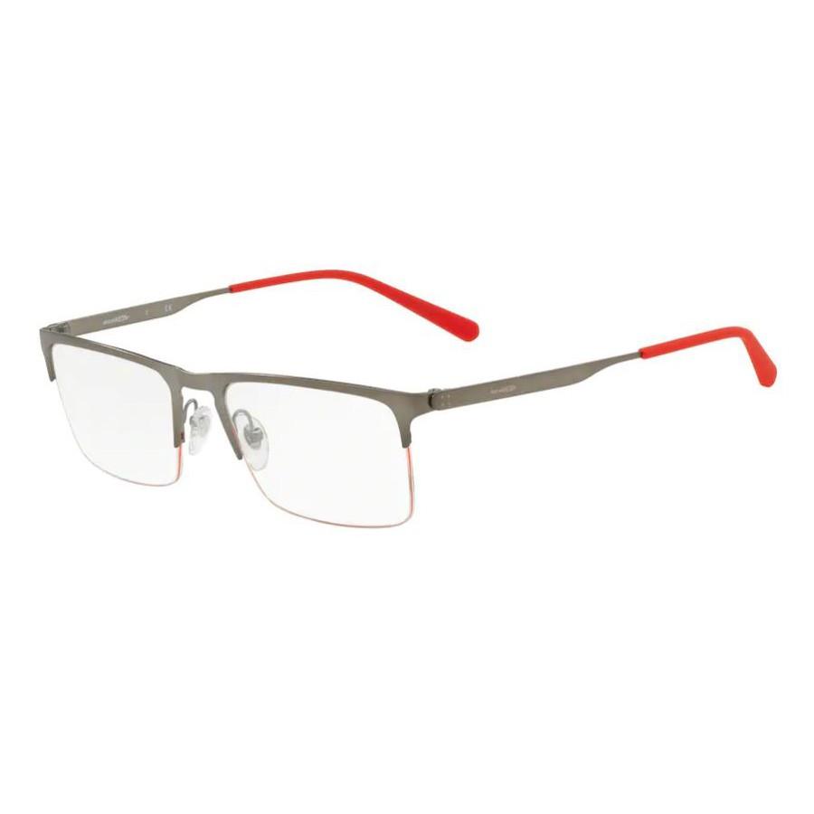 Óculos de Grau Masculino Arnette Tail AN6118 Cinza Fosco e Vermelho