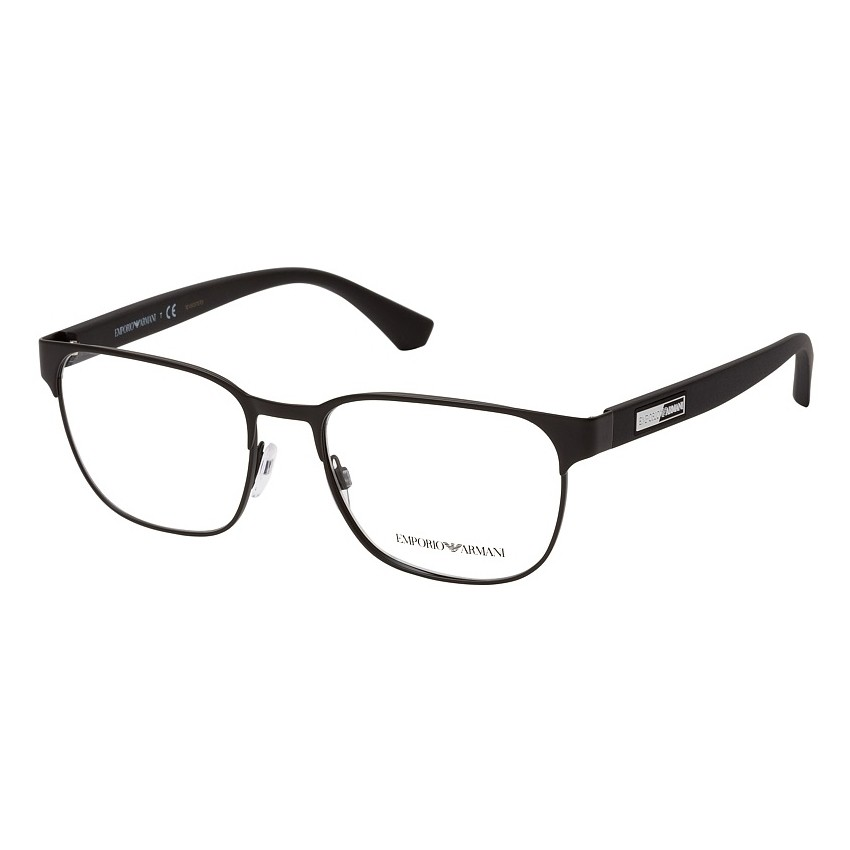 Óculos de Grau Masculino Empório Armani EA1103 Quadrado Preto Fosco