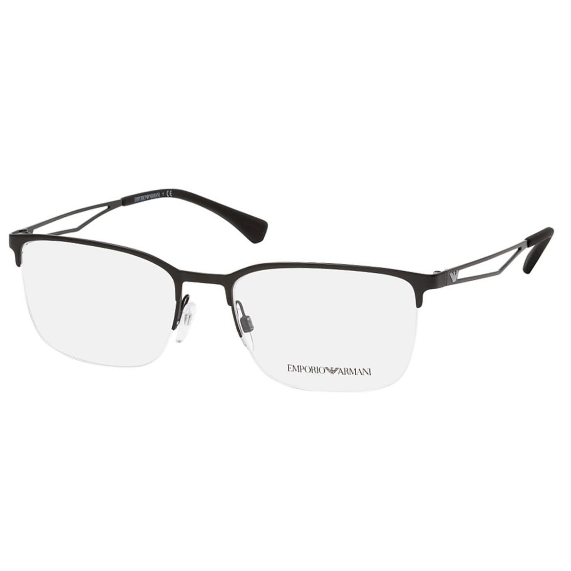 Óculos de Grau Masculino Empório Armani Metal EA1116 Preto Fosco